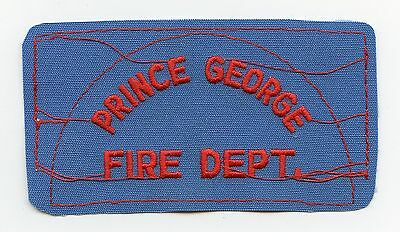Prince George Fire Department, BC, Canada RARE Vintage Shoulder Patch Proof
