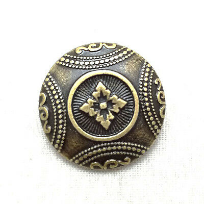 Vintage Flower Brass Coat of Arms Metal Buttons Sewing Shank Button Craft 20mm