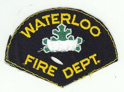 Waterloo Fire Department Ontario, Canada HTF Vintage Shoulder Patch #2