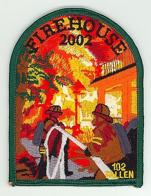 USFA 2002 Firehouse 102 Fallen Firefighters Patch United States Fire Admin.
