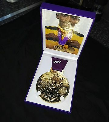 Usain Bolt , Genuine Signed , Olympic Medal Display Only 1 In The World