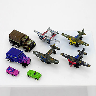 Eight Galoob Micromachines for Wargames & Collectors - Planes/Cars/Trucks