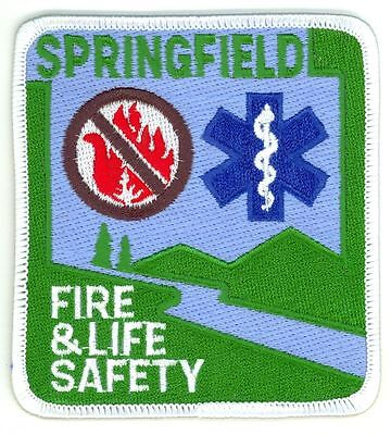 SFD Springfield Fire Department & Life Safety Uniform Patch Oregon OR