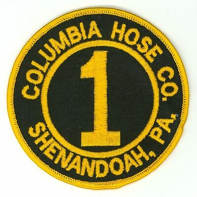 Columbia Hose Co. #1 Shenandoah Fire Department Patch Pennsylvania PA