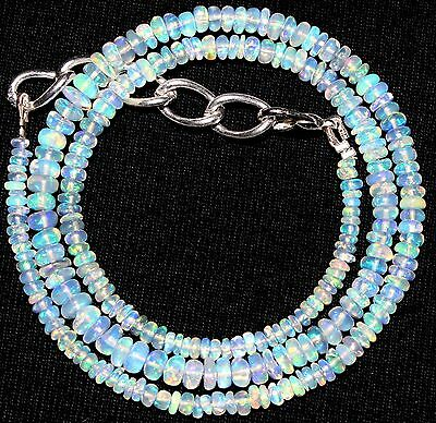 """32 Crt 1 Strand 2.5 mm to 4.5 mm 16.2 """"Natural Ethopian Opal Gemstone Beads 2069"""