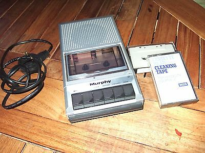 EXCELLENT VINTAGE MURPHY PORTABLE CASSETTE PLAYER/RECORDER. 2022 + Head Cleaners