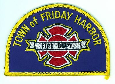 FHFD Town of Friday Harbor Fire Department Uniform Patch Washington WA