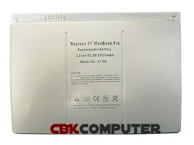"Battery For Apple MacBook Pro 17"" A1189 A1261 A1229 MA092 MA092CH/A MA092LL/A"