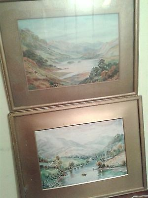 Pair of Watercolours by D.TALLNTYRS depicting the Lake District