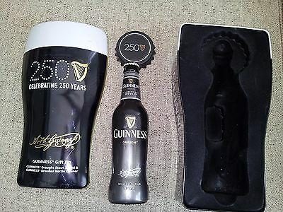 Guinness Celebrating 250 Years Tin with Bottle and Opener