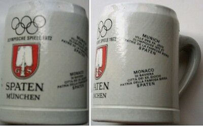 Orig.Tankard/Stoneware jug  Olympic Games MÜNCHEN 1972  -  Special Edt. / SPATEN