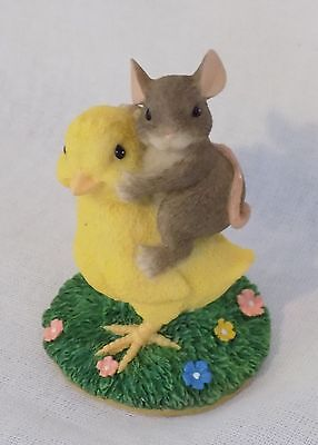 Charming Tails Chickie Back Ride Figurine #88/700 by Fitz & Floyd - Cute!