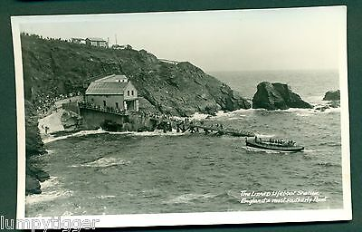 THE LIZARD LIFEBOAT STATION WITH LIFEBOAT, vintage postcard