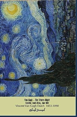 Blank Journal Van Gogh Starry Night: Blank Unlined - NEW FREE SHIPPING