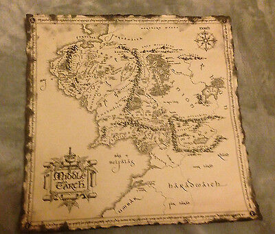 LORD OF THE RINGS MIDDLE EARTH MAP - New Line Cinema - New in tube