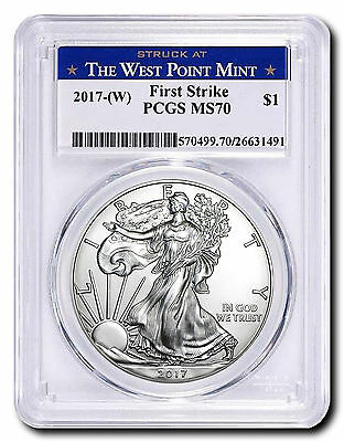 2017-(W) American Silver Eagle FirstStrike PCGS MS70  - Struck at The West Point