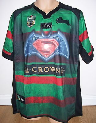 "Rabbitohs - Super Heroes - Rugby League- Nrl Australia - Small - 40"" Chest-  New"