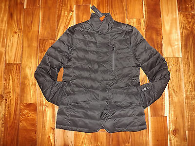 NWT Mens TAHARI Black Down Blazer Jacket Quilted Puffer Coat Size M Medium