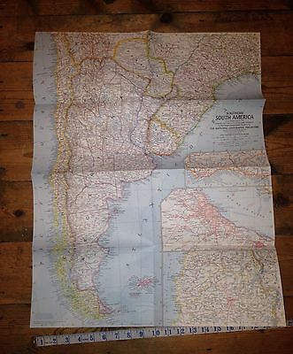 1958 Southern South America National Geographic Map