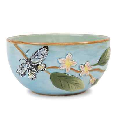 Fitz And Floyd Toulouse Fruit Bowl, Blue