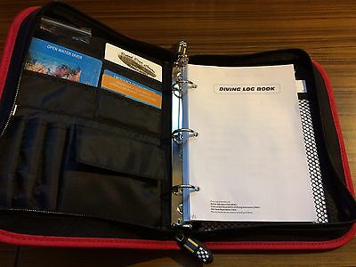 Divers Log Book Used Little Used Diving Card Holder Dive