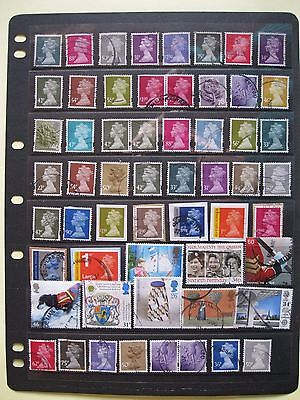 A Sheet Of Higher Value Stamps.used.