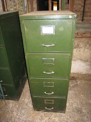 4 Drawer Filing Cabinet Green Used