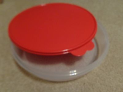 "Tupperware Pie Cookies Cupcake & Pizza Container 12"" Large Round  POPSICLE SEAL"