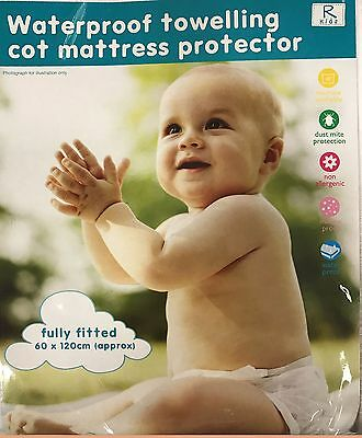 Baby Kids Cotbed Cot Waterproof Towelling Fitted Sheet Mattress Protector/cover