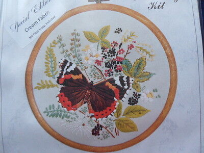 Design Perfection Embroidery Kit E150 Red Admiral Butterfly