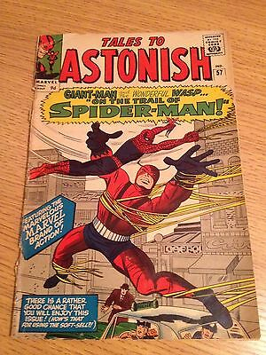 Marvel Tales To Astonish #57  1st Spider-man Cross-over To Title