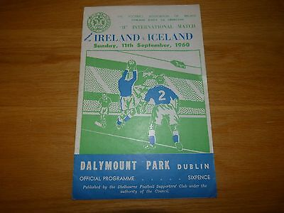 Republic of Ireland v Iceland B International 1960