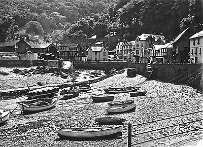 LYNMOUTH  BATH HOTEL HARBOUR 1920/30s 1/6th PLATE GLASS NEGATIVE-6th 007