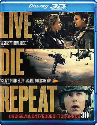 Live Die Repeat: Edge of Tomorrow (3D + 2D Blu-ray+ DVD + Ultraviolet Copy 2014)