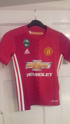 NEW 'ROONEY 10' Manchester United 2016-17 Home Football Shirt 7 - 8 years
