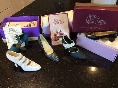 5 If The Shoe Fits Collectors Miniature  Shoes/boots With Boxes