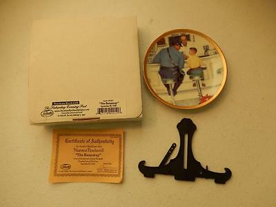 "Norman Rockwell THE RUNAWAY #NR-2010 Miniature Plate 4.125"" Dia"