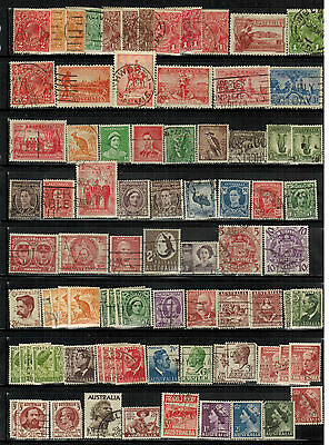 Lot of Australia Old Stamps Used VF