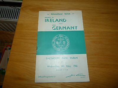 Republic of Ireland v West Germany International Programme 1966
