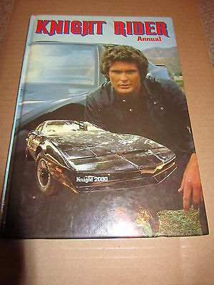 David Hasselhoff    Knightrider - 1982 Annual  Signed   - Uacc + Coa