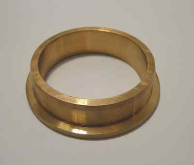 MIL spec Lagerring / Lagerbuchse: Messing/Bronze, ca. 60 auf 70 mm, L = 16 mm