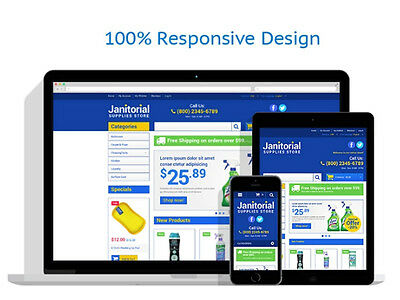 Cleaning Supplies Store Responsive Magento Theme - Complete E-commerce Website