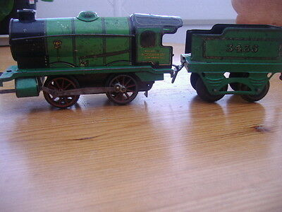 O Gauge Green Loco With Hornby On Side And 3455 Tender And Key