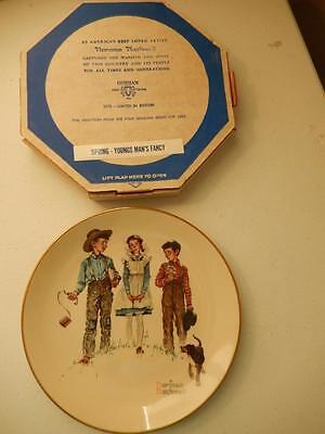 "Norman Rockwell 4 Seasons Spring 1954 - YOUNG MAN'S FANCY  11"" Diameter"