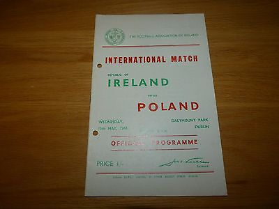 Republic of Ireland v Poland International Programme 1968