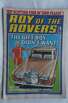 Roy of the Rovers Comic - 1978 - Good Condition - 39 Years Old !