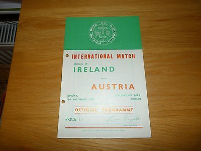 Republic of Ireland v Austria International Programme 1968