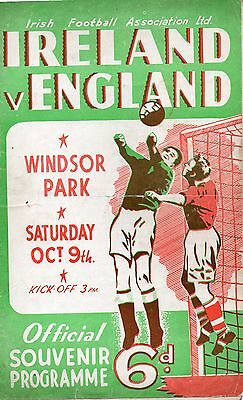 Northern Ireland V. England 9 October 1948 And Cuttings
