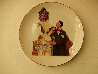 "Norman Rockwell COURTING AT MIDNIGHT Young Love  (8"" Diameter)"
