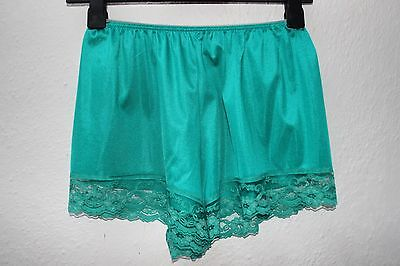vintage green cami knickers sissy tap shorts lace 1980s night wear lingerie